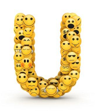 Emoticons letter U