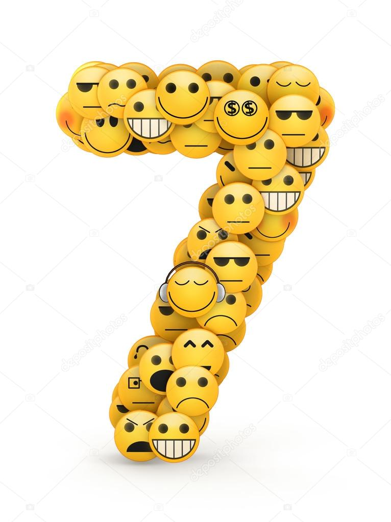Depositphotos Stock Photo Emoticons Number Character