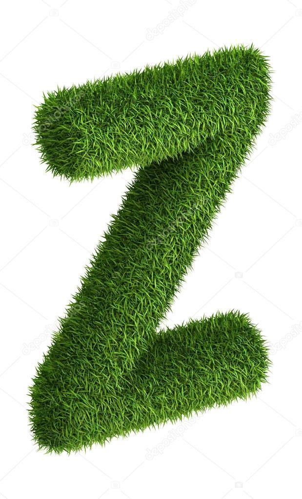 Natural grass letter Z