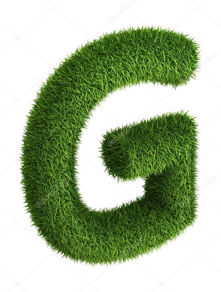 Natural grass letter G