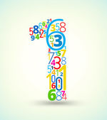 Photo Number 1, colored vector font from numbers