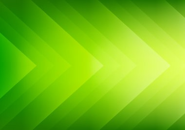 Abstract green eco arrows background