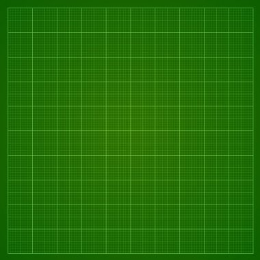 Green millimeter paper or radar or oscillograph screen grid.  Vector background. stock vector