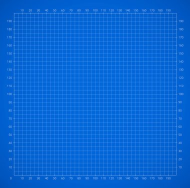 Scientific engineering grid paper with scale
