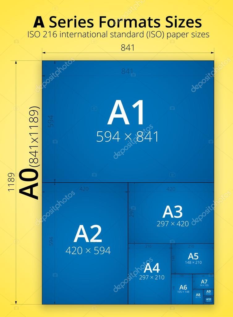 taille d 39 une affiche de feuilles de papier de format image vectorielle iunewind 44204289. Black Bedroom Furniture Sets. Home Design Ideas