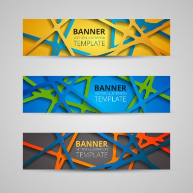 A set of modern vector banners