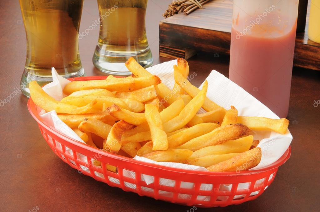French fries and beer