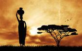 Africká žena非洲的女人