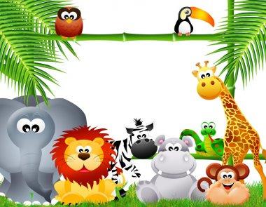 Zoo animal cartoon