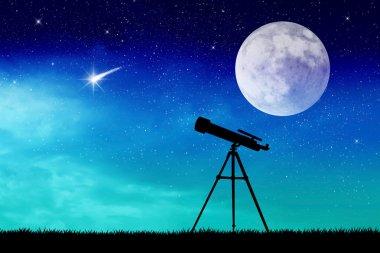 Telescope silhouette