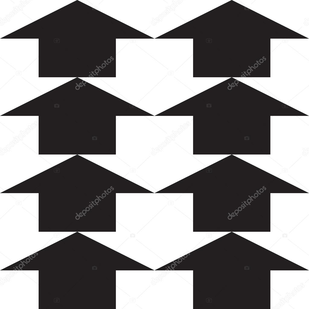 patrón sin costuras de flecha, variante en blanco y negro, fácil uso ...
