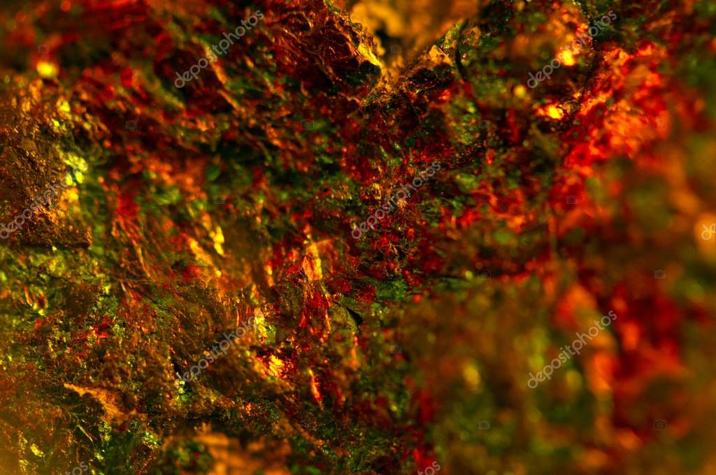 Abstract Colour Dark Background Orange Crystals Macro