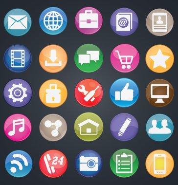 Set of social media buttons for design - part 1