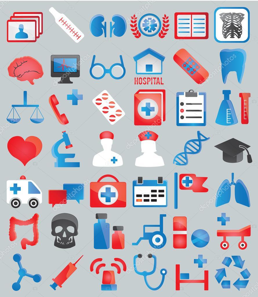 Set of medical icons for design