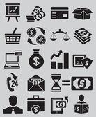 Csoportja, üzleti és pénzt ikonok - 1. rész