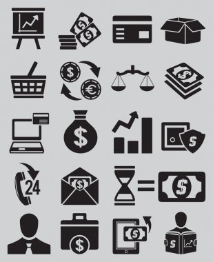Set of business and money icons - part 1