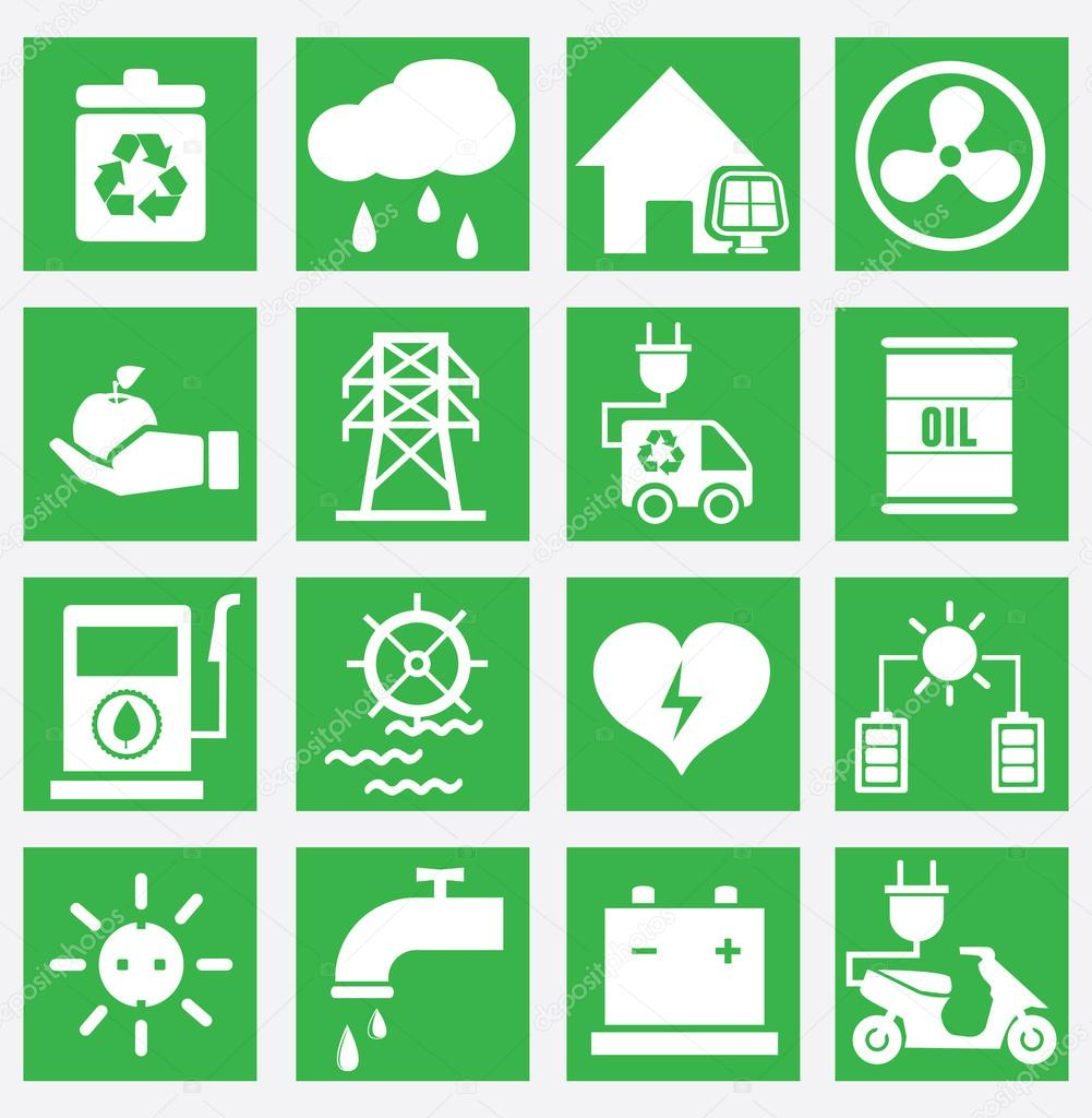 Set of energy saving icons - part 2
