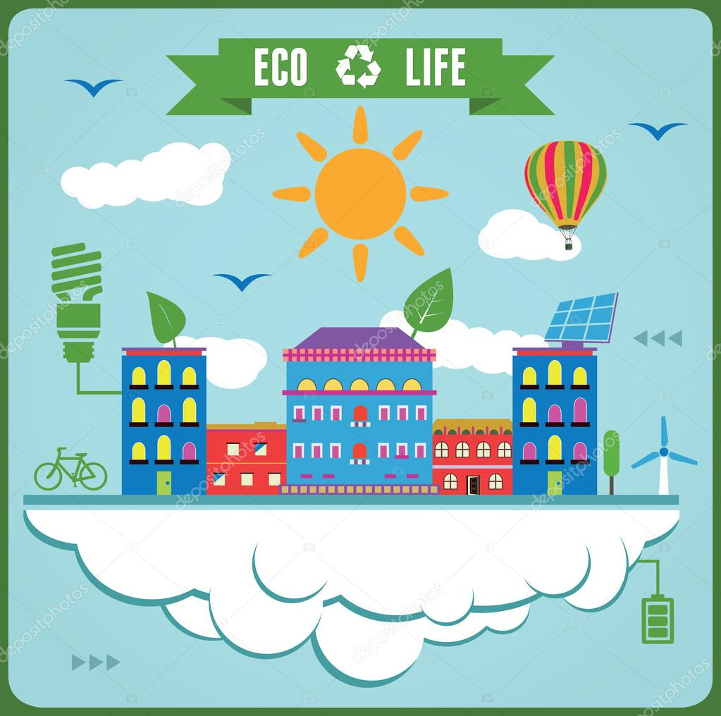 Eco Life Info Graphics. Concept of ecology