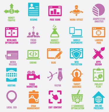 Set of seo and internet service icons - part 8