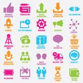 Satz von Seo und Internet-Service-Icons - Teil 9