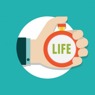 Vector flat concept of time management. Manage life
