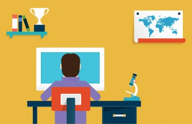 Vector flat concept of online learning. Education and science