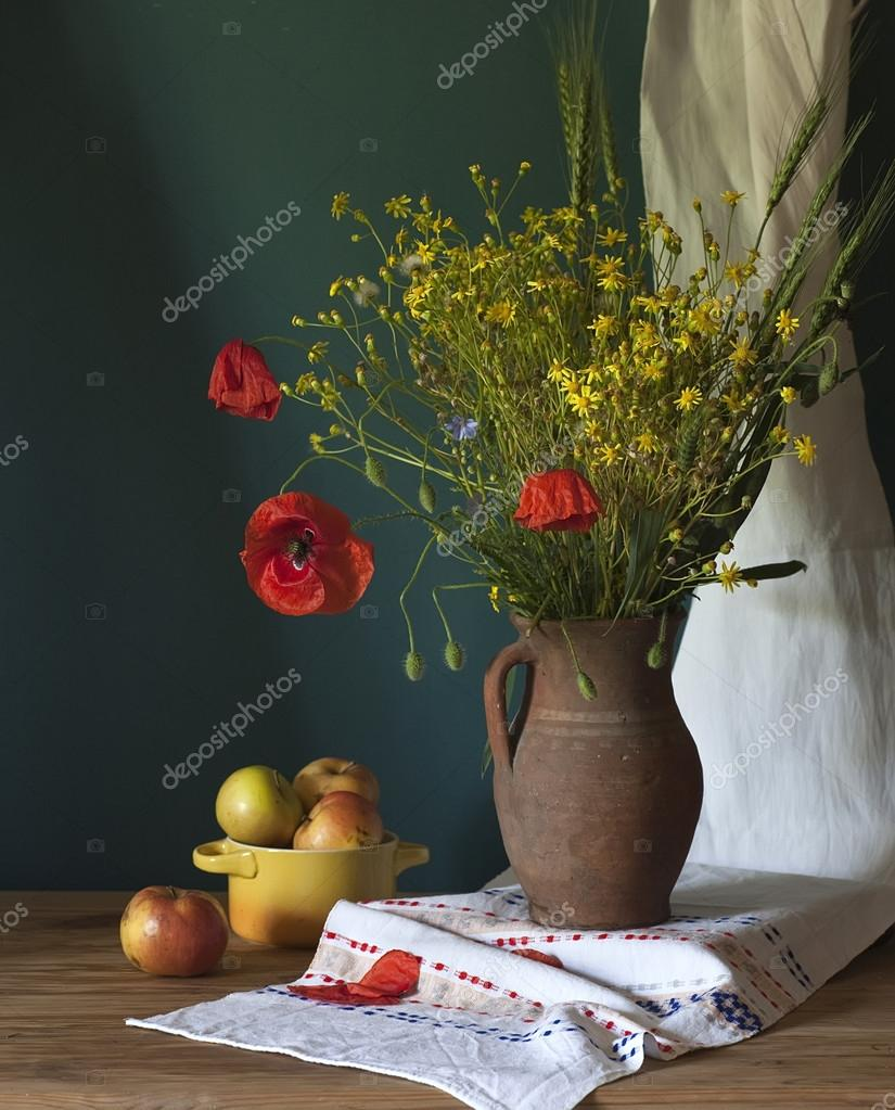 Still life with poppy