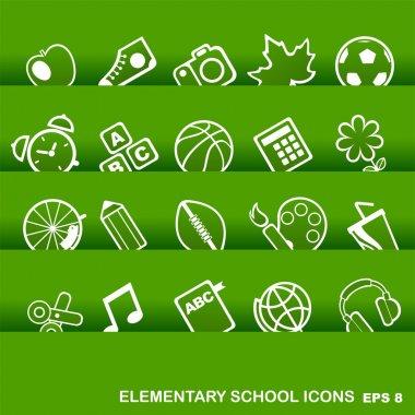 Education Icons, basics, elementary school
