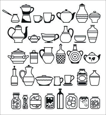 Kitchen tools and utensils. Vector illustration