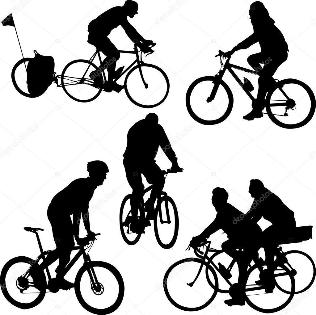 riding bicycle — Stock Vector © sbojanovic #13960322
