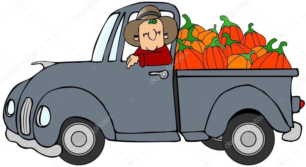 Truckload of pumpkins