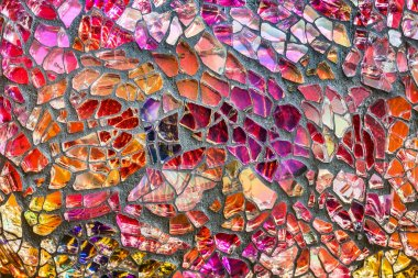 Mosaic of colored glass