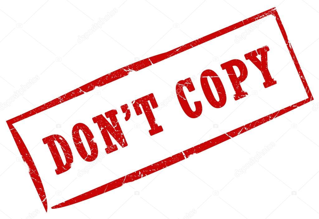 Výsledek obrázku pro don't copy icon
