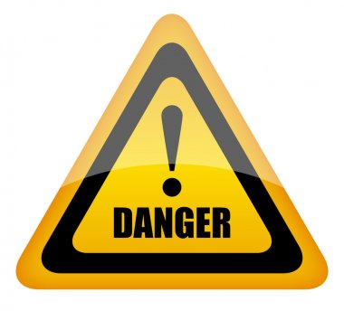 Vector danger sign