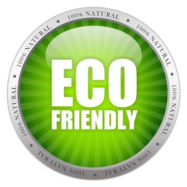 Eco friendly glass icon
