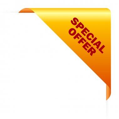 Special offer corner, vector illustration stock vector