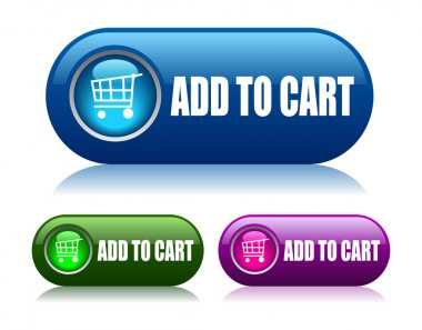 Add to cart vector buttons