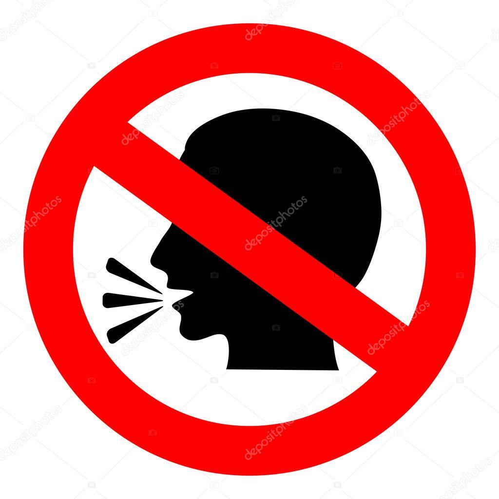 Vector no talking sign