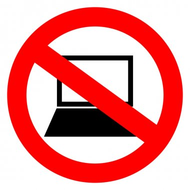 No computers vector sign