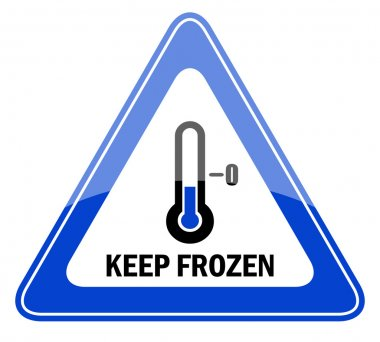 Vector keep frozen sign