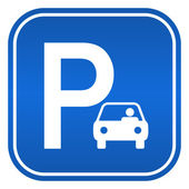 Fotografie Car parking sign, vector illustration