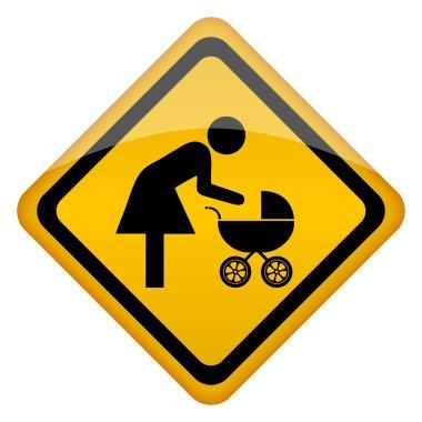 Mother restroom vector icon
