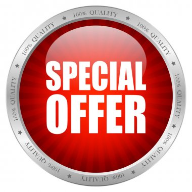 Vector special offer button