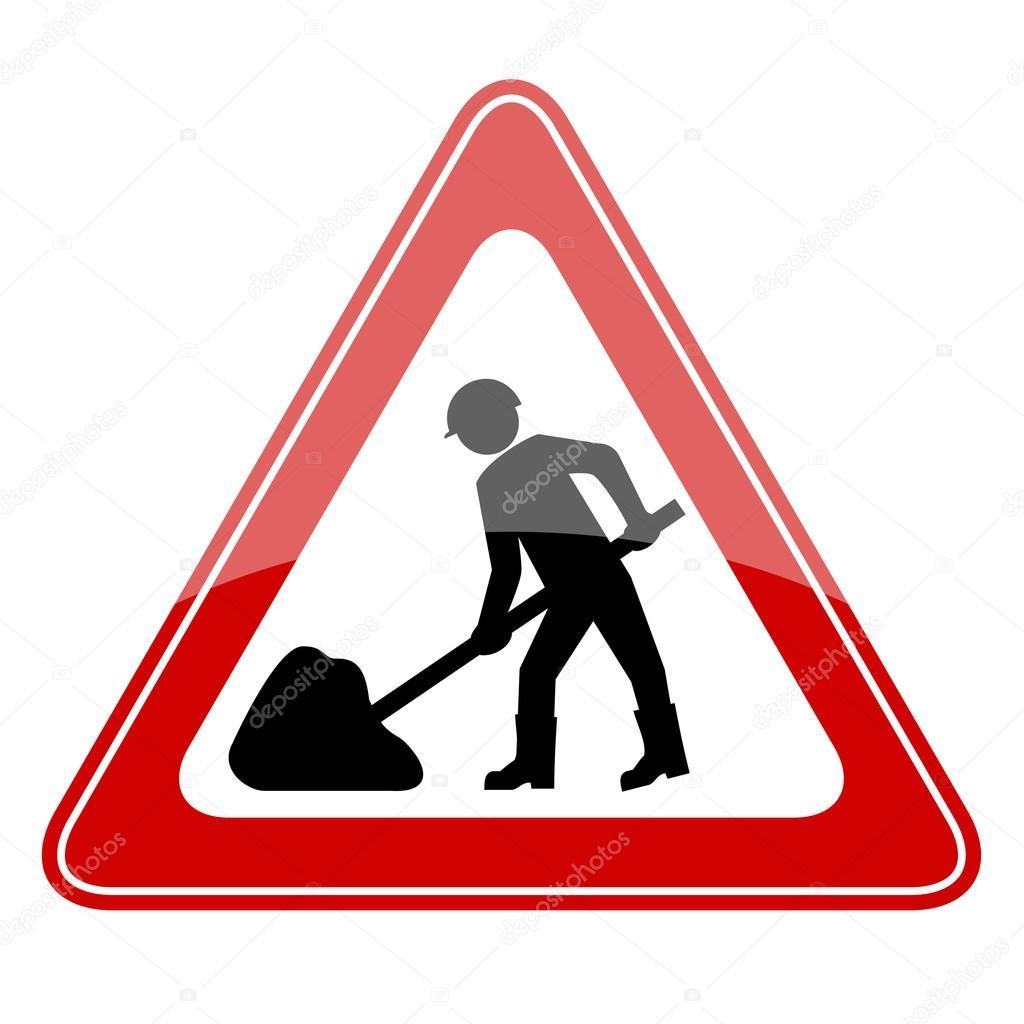Baustelle schild frau  Baustellen-Schild — Stockvektor #24239457