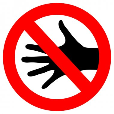 Vector do not touch sign
