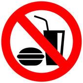 No eating vector sign