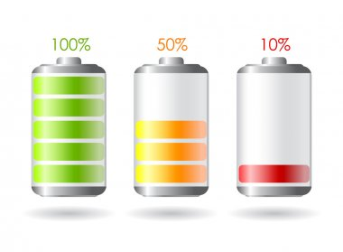 Vector battery illustrations