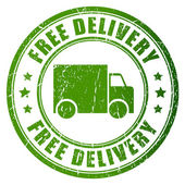 Photo Free delivery vector stamp