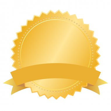 Vector blank gold seal