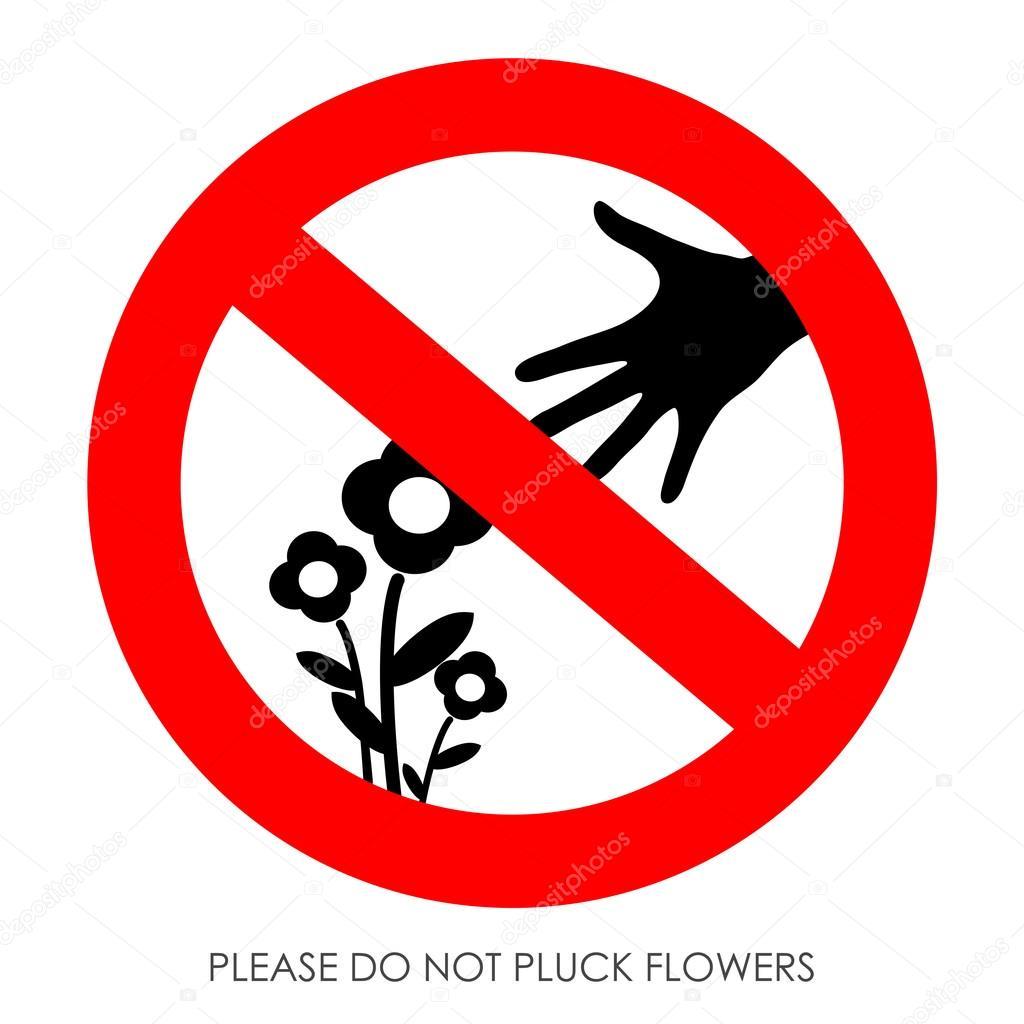 запрещающий знак не рвать цветы и ловить бабочек